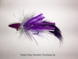 Purple Haze Hootchie Twitching Jig w Zonker Tail
